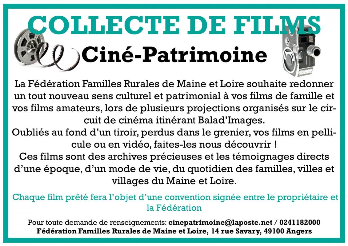 Collecte de films cine patrimoine